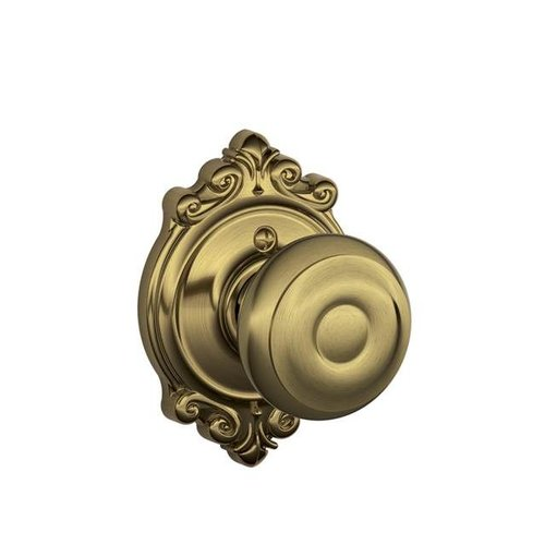 Schlage Georgian Knob with Brookshire Trim Non-Turning Lock