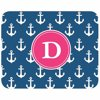 """Personalized Anchors Away Mouse Pad Surf the net in personalized style. This bright and fun mouse pad can be personalized with your initial, up to 1 character long. It has a high-quality cloth-top and rubber-bottom. Mouse pad measures 8""""L x 9""""W x 1/4"""" thick and you can wipe clean."""