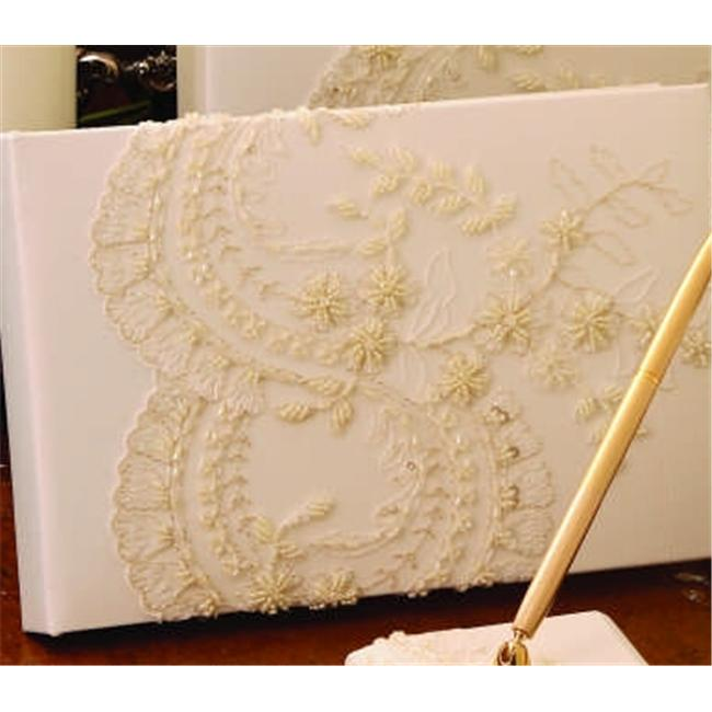 Beverly Clark A01120GB/WHT Victorian Guest Book - White