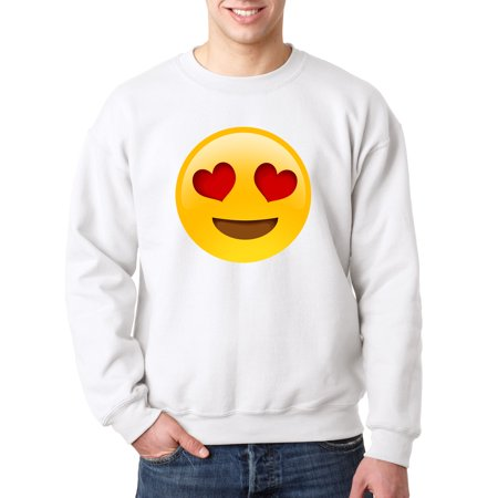 302 - Crewneck Emoji Heart Eyes Smiley Face Sweatshirt