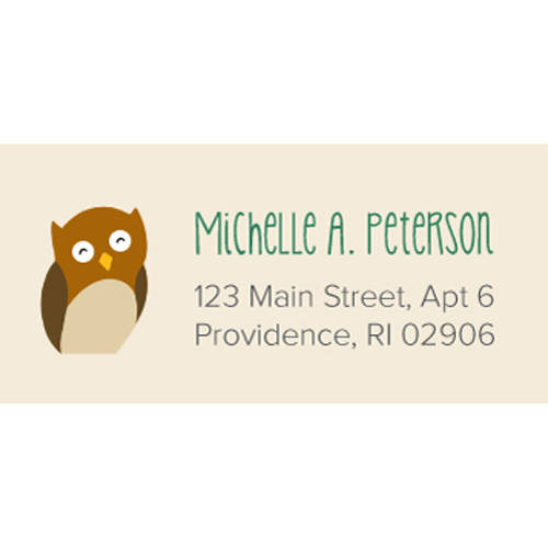 Woodland Animals Personalized Address Label