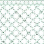 Dollhouse 6 Pack 1/2 Scale Dutch Tile, Green On White