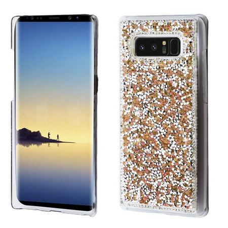 online retailer 7e78a f64b3 Samsung Galaxy Note 8 Glitter Case, by Insten Rhinestone Diamond Bling Hard  Snap-in Case Cover for Samsung Galaxy Note 8 - Rose Gold