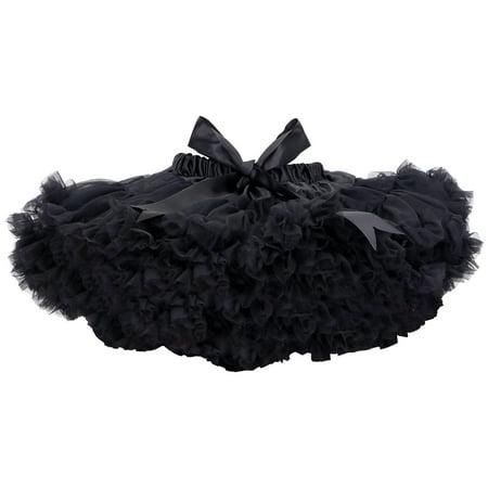Girls Dress Up Princess Petticoat Ballet Dance Tutu Skirts,Black,L ()