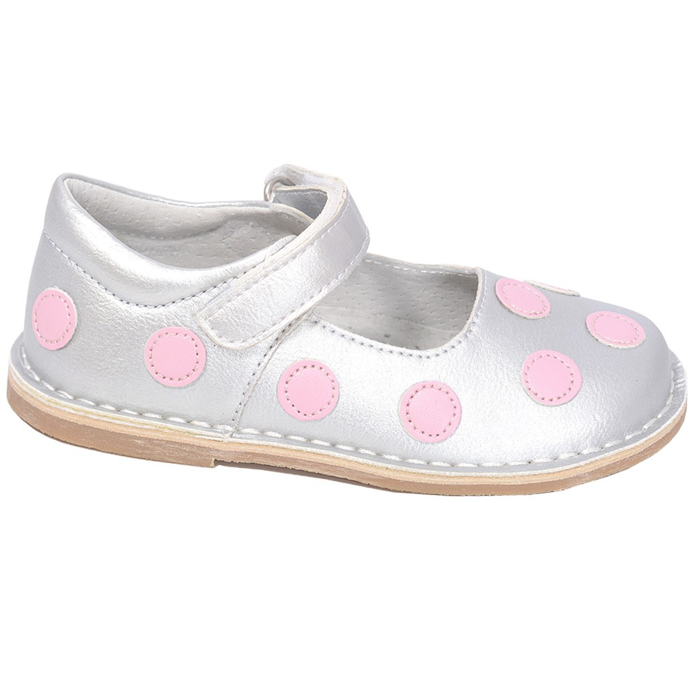 L'Amour Silver Pink Toddler Dot Mary Jane Dress Shoe Baby Toddler Pink Girl 4-10 bb2b63
