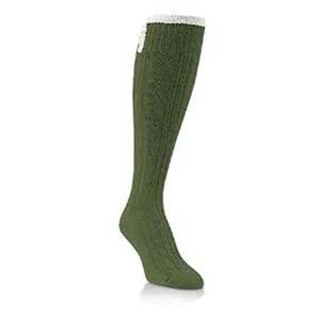 Flirty Light (World's Softest Socks - Weekend Collection - Flirty Knee-Hi - Spinach)