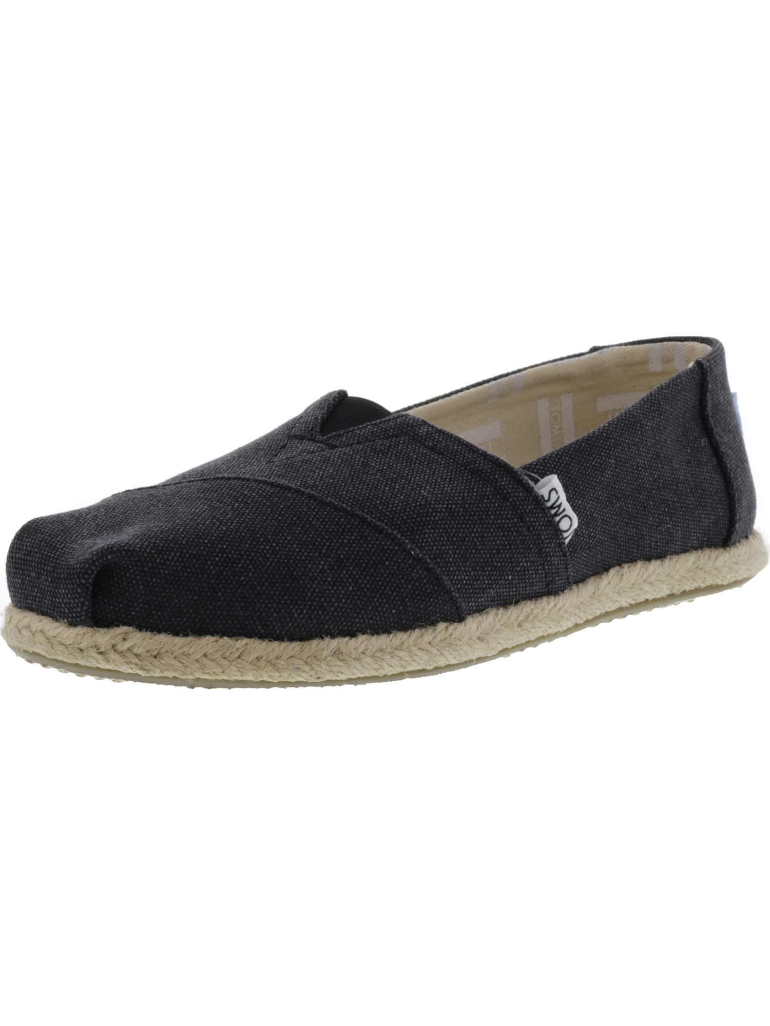 5ccbaccc872 Toms Women s Classic Washed Canvas Rope Sole Navy Slip-On Shoes