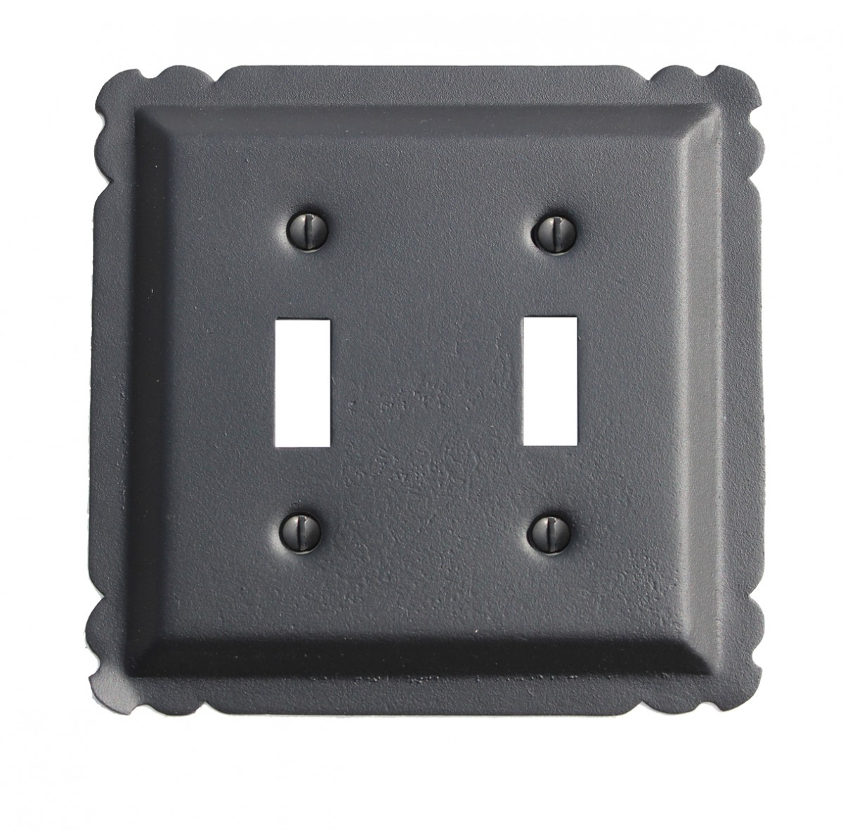 Switchplate Black Steel Double Toggle | Renovator's Supply