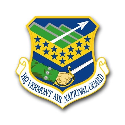 3.8 Inch Air Force Headquarters Vermont Air National Guard Vinyl Transfer Decal
