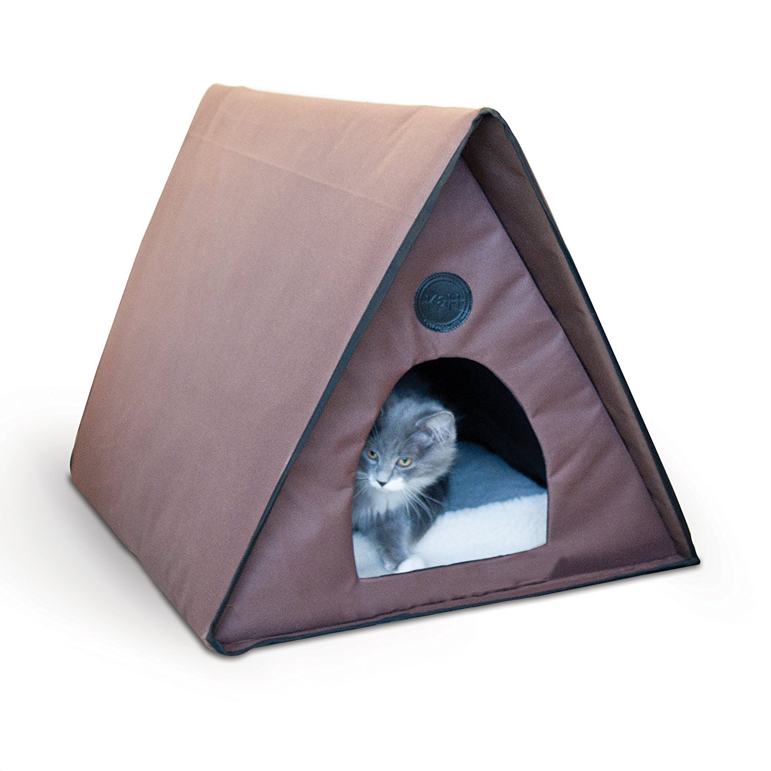 """K;H Manufacturing Outdoor Multi-Kitty A-Frame - Chocolate 35"""" X 20.5"""" X 20"""" (Heated or Unheated), Perfect shelter for multiple outdoor cats, by K;H Pet Products"""