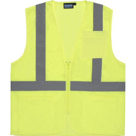 - ERB Safety S363P Ansi Class 2 Vest Mesh Economy W/Pockets - Zipper