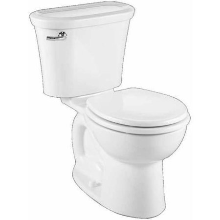 "American Standard 217DA.104.020 Tropic Cadet Pro Round Front Two-Piece 1.28 GPF Toilet with 12"" Rough-In, Available in Various Colors"