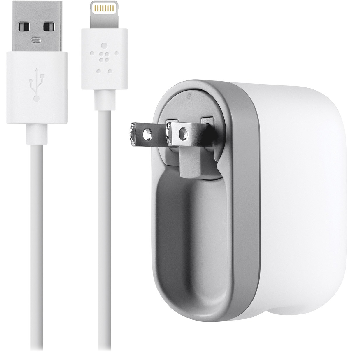 Belkin, BLKF8J03204WHT, AC Swivel Lightning Cable iPhone 5 Charger, 1, White