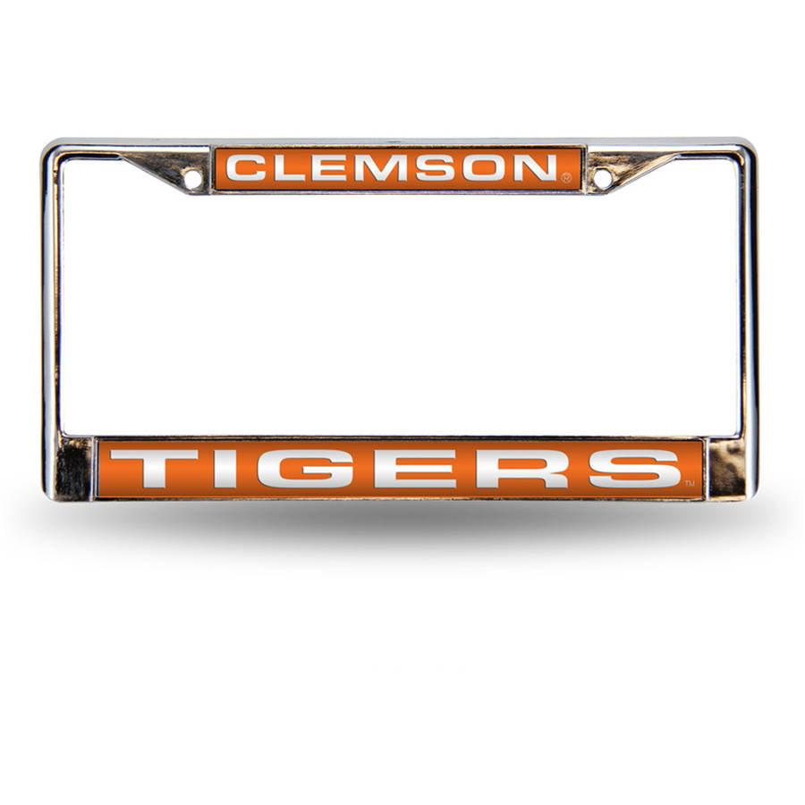 NCAA Clemson Chrome Laser License Plate Frame