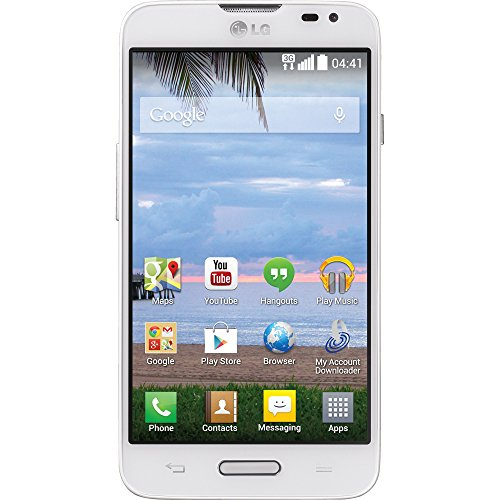 LG Ultimate 2 L41C White Android Prepaid Phone with Tripl...