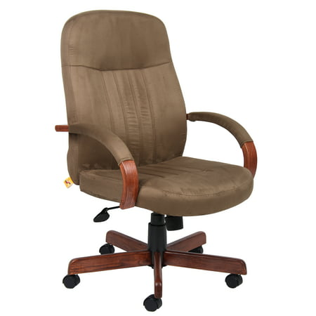 Boss Office Products Cappuccino Executive Chair With Finish