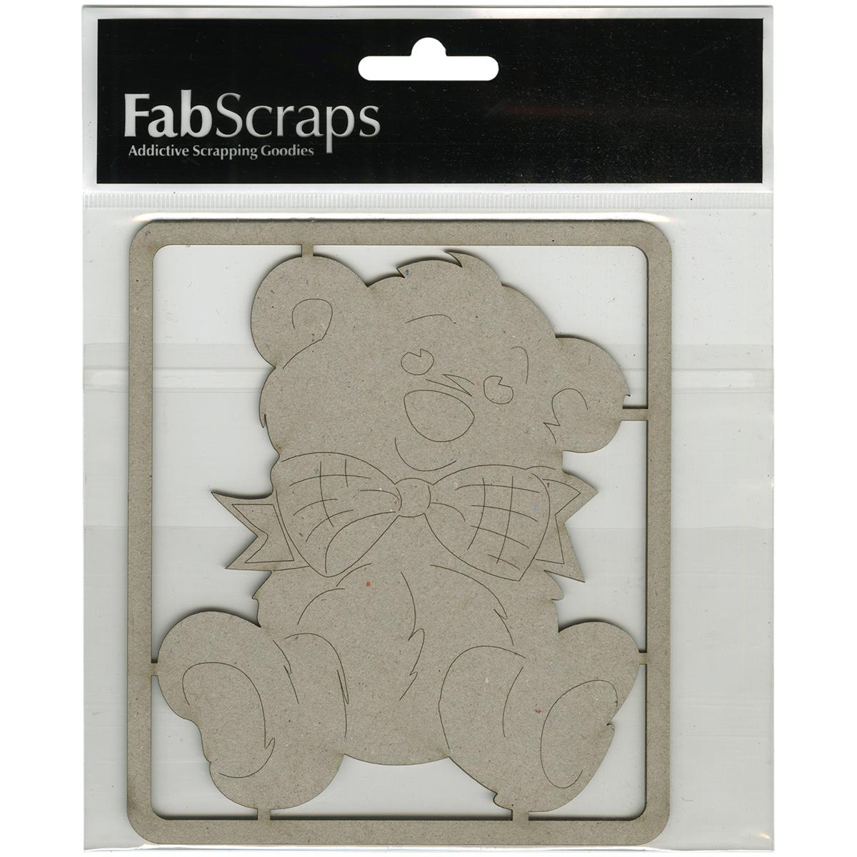 """Die-Cut Gray Chipboard Embellishments-Teddy Bear, 5""""X4.5"""""""