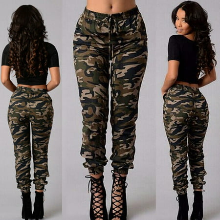 Women Camouflage Pants Camo Casual Cargo Joggers Military Army Harem Trousers Stealth Camo Pant