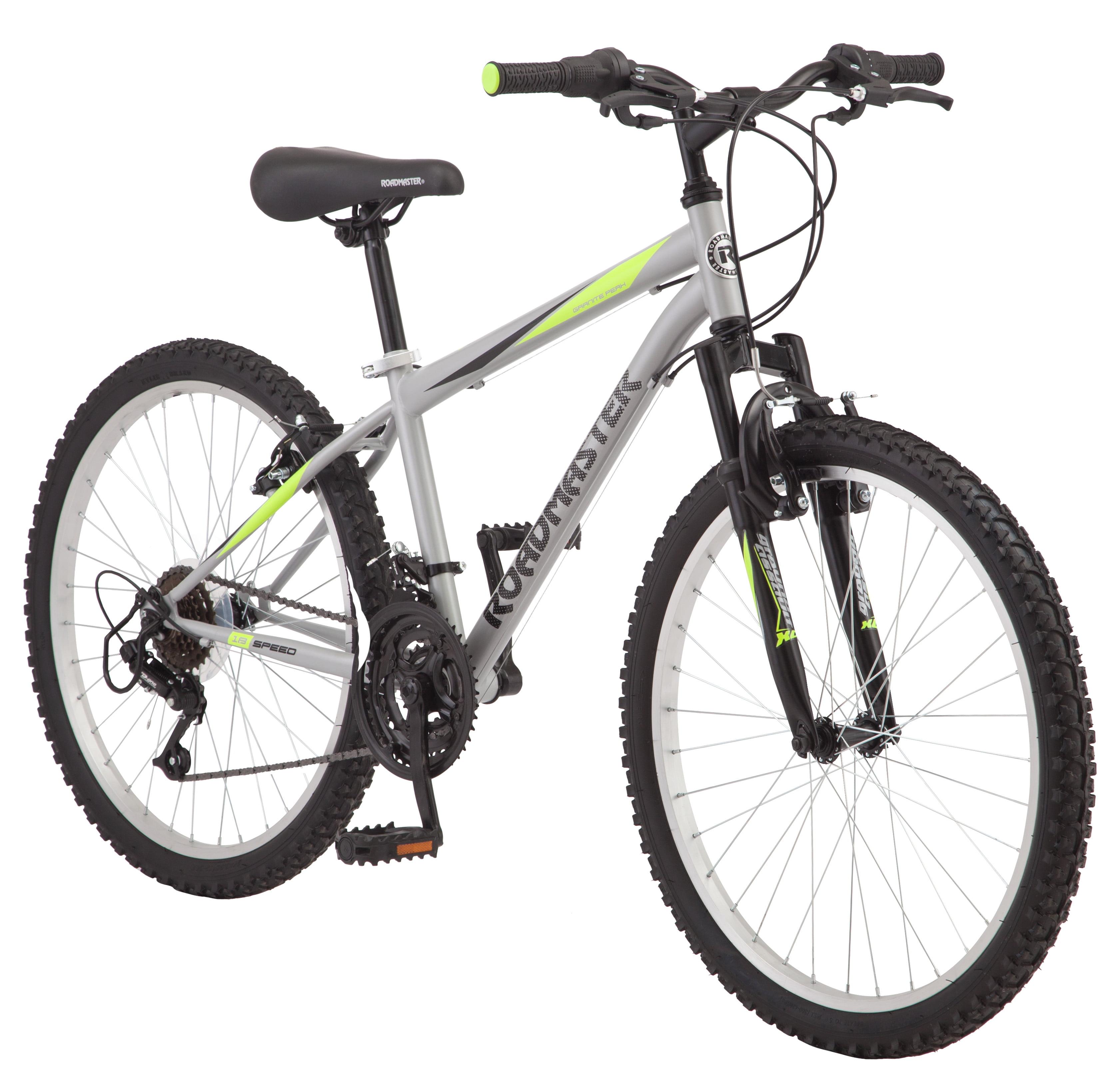 "Roadmaster 24"" Granite Peak Boy's Mountain Bike, Silver by Pacific Cycle"
