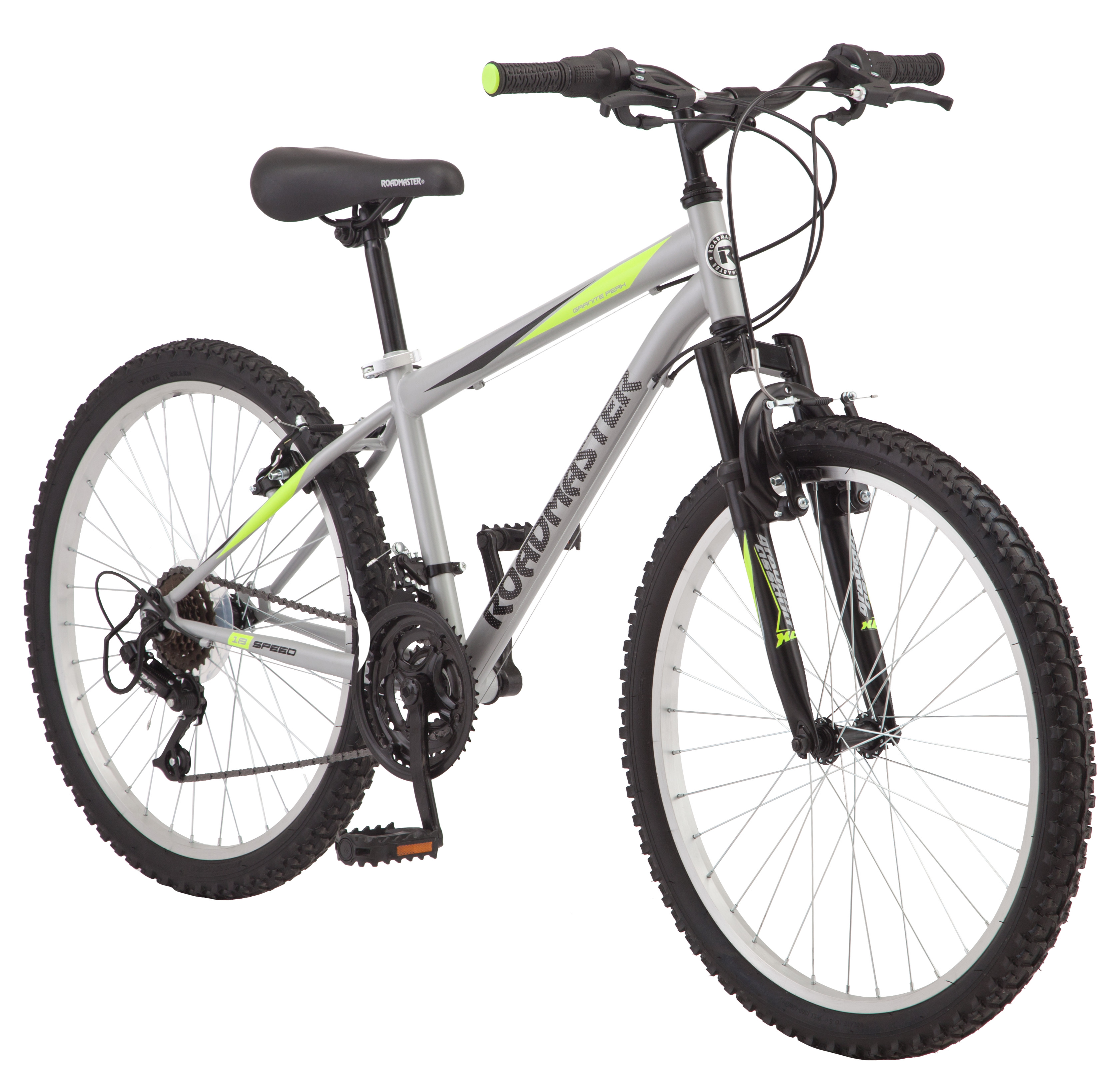 "Roadmaster 24"" Granite Peak Boy's Mountain Bike, Silver"