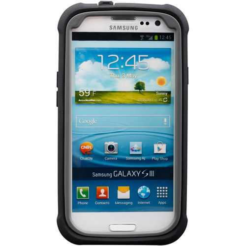 Body Glove ShockSuit Case for Samsung Galaxy S III, Black/Charcoal