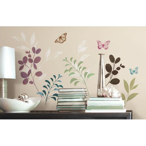 Botanical Butterfly Peel and Stick Wall Decals