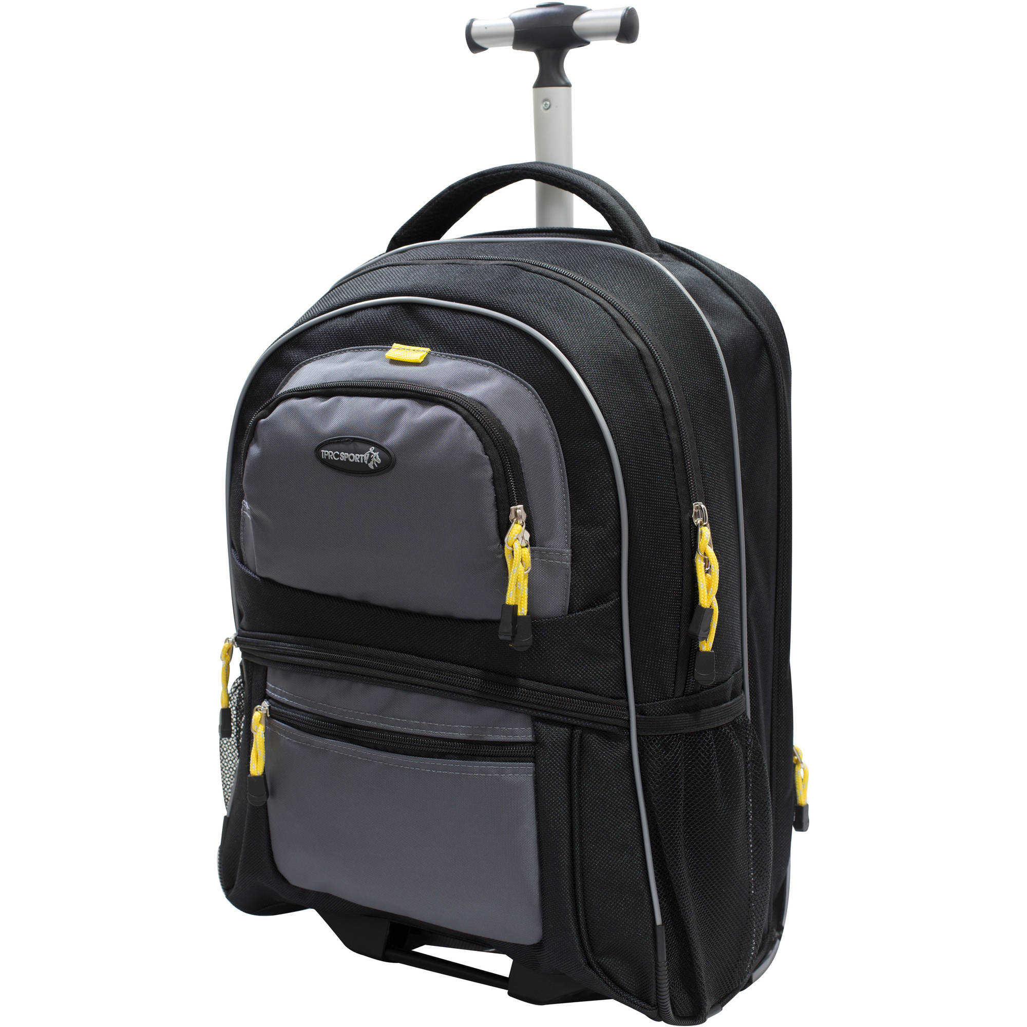 "TPRC 19"" Rolling Backpack Black by Travelers Club Luggage"