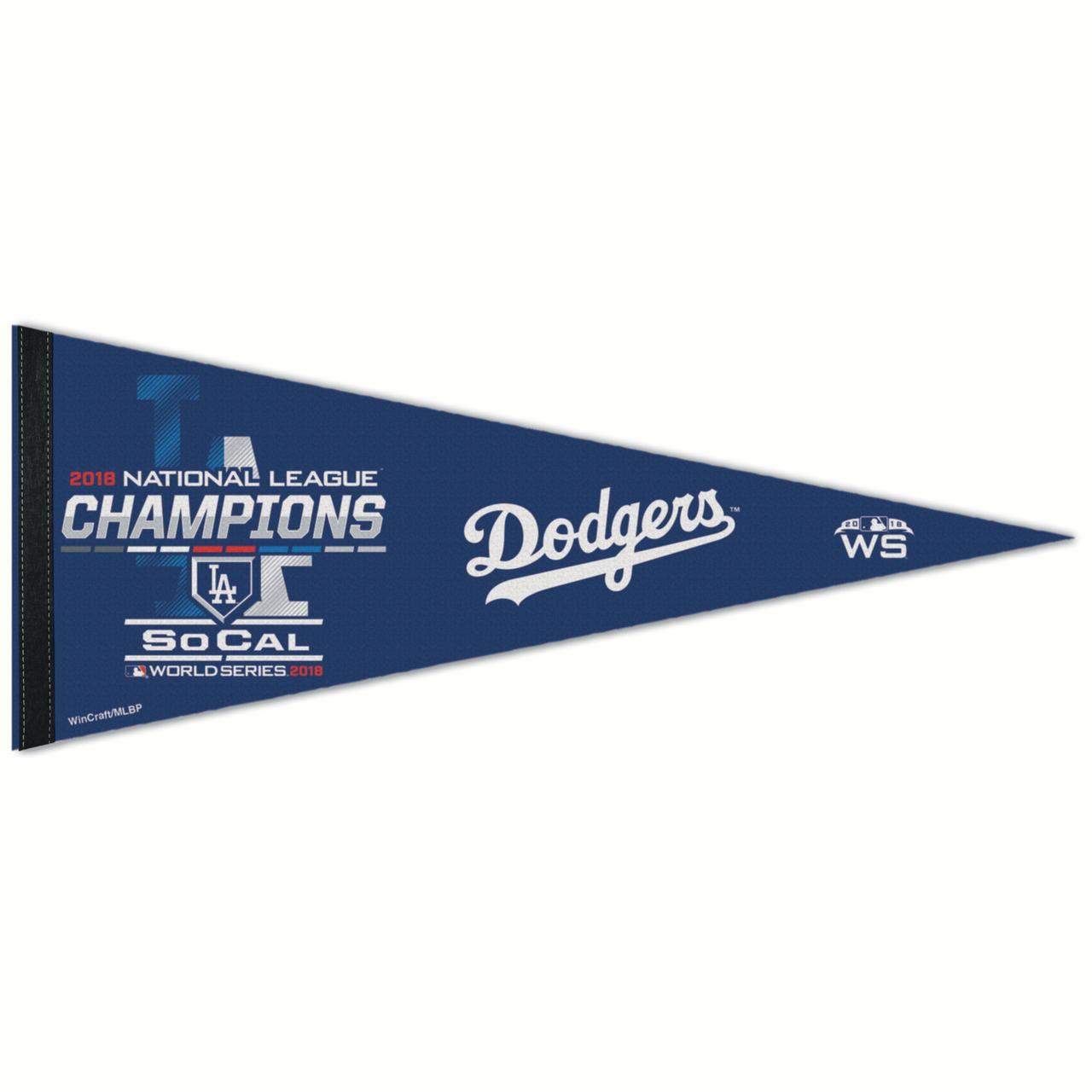 """Los Angeles Dodgers WinCraft 2018 National League Champions On-Field Locker Room Celebration 12"""" x 30"""" Pennant - No Size"""