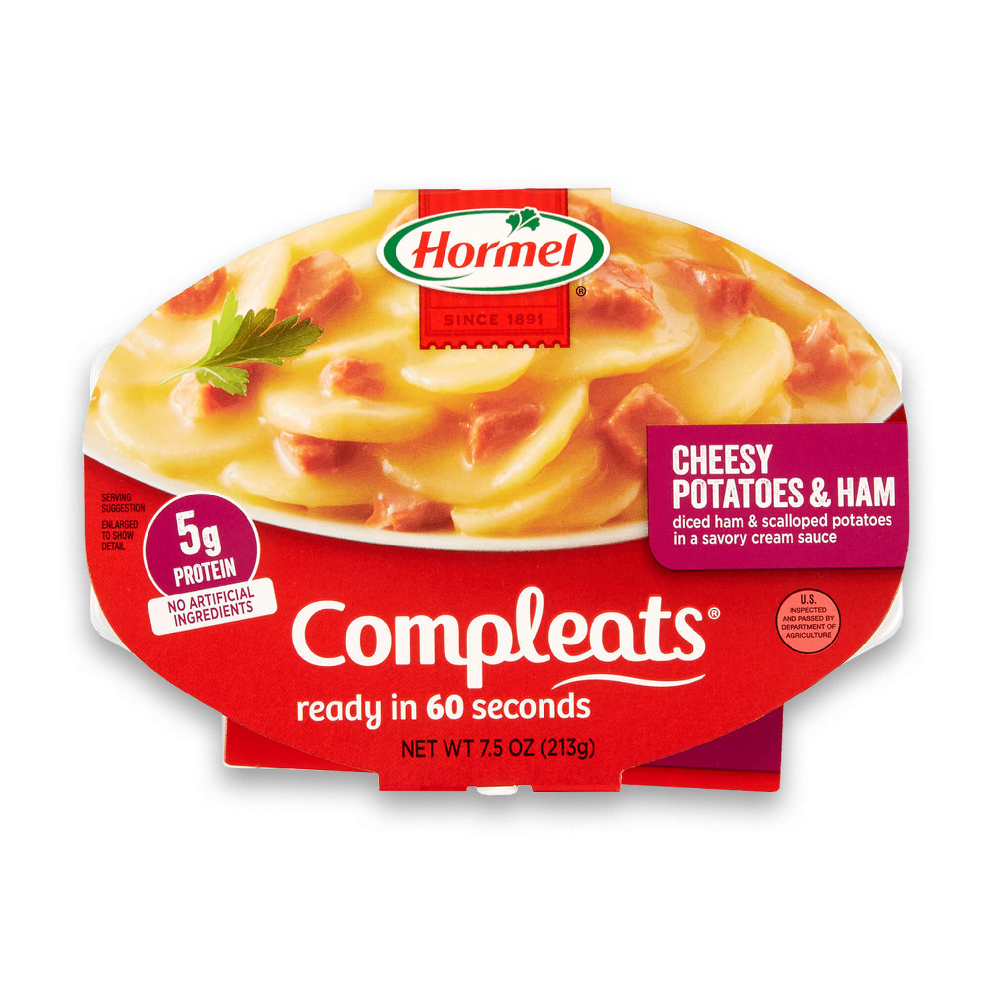 Hormel Compleats Cheesy Potatoes & Ham, 7.5 Ounce