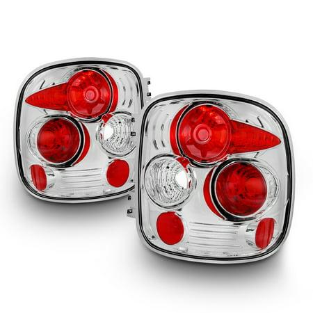 Gmc Pickup Stepside Box (Fits 99-04 Silverado GMC Sierra Stepside Pickup Truck Chrome Tail Lights Lamps )