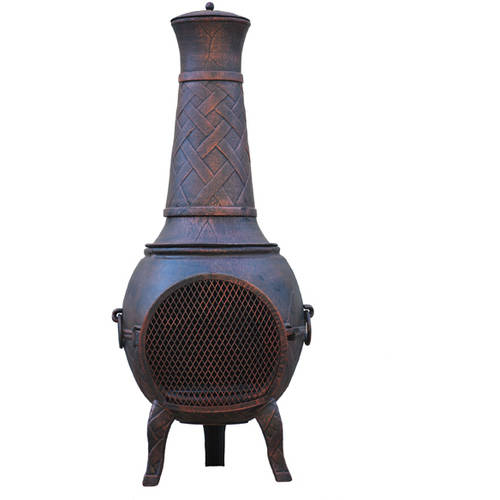 Gardener Select Cast-Iron Weave Chiminea by Gardener Select