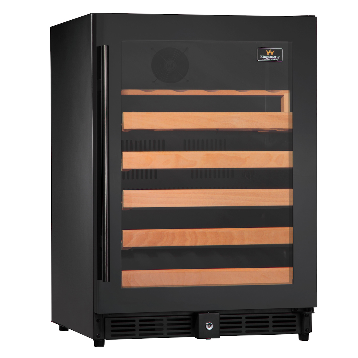Kingsbottle 50 Bottle Single Zone Built-In Wine Refrigerator