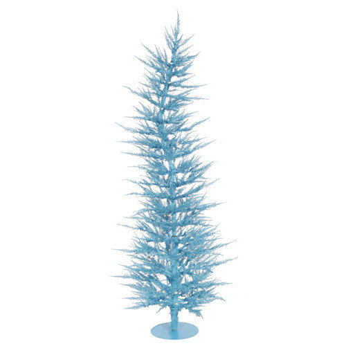 Vickerman Co. Colorful Laser 6' Sky Blue Artificial Christmas Tree with 150 Lights