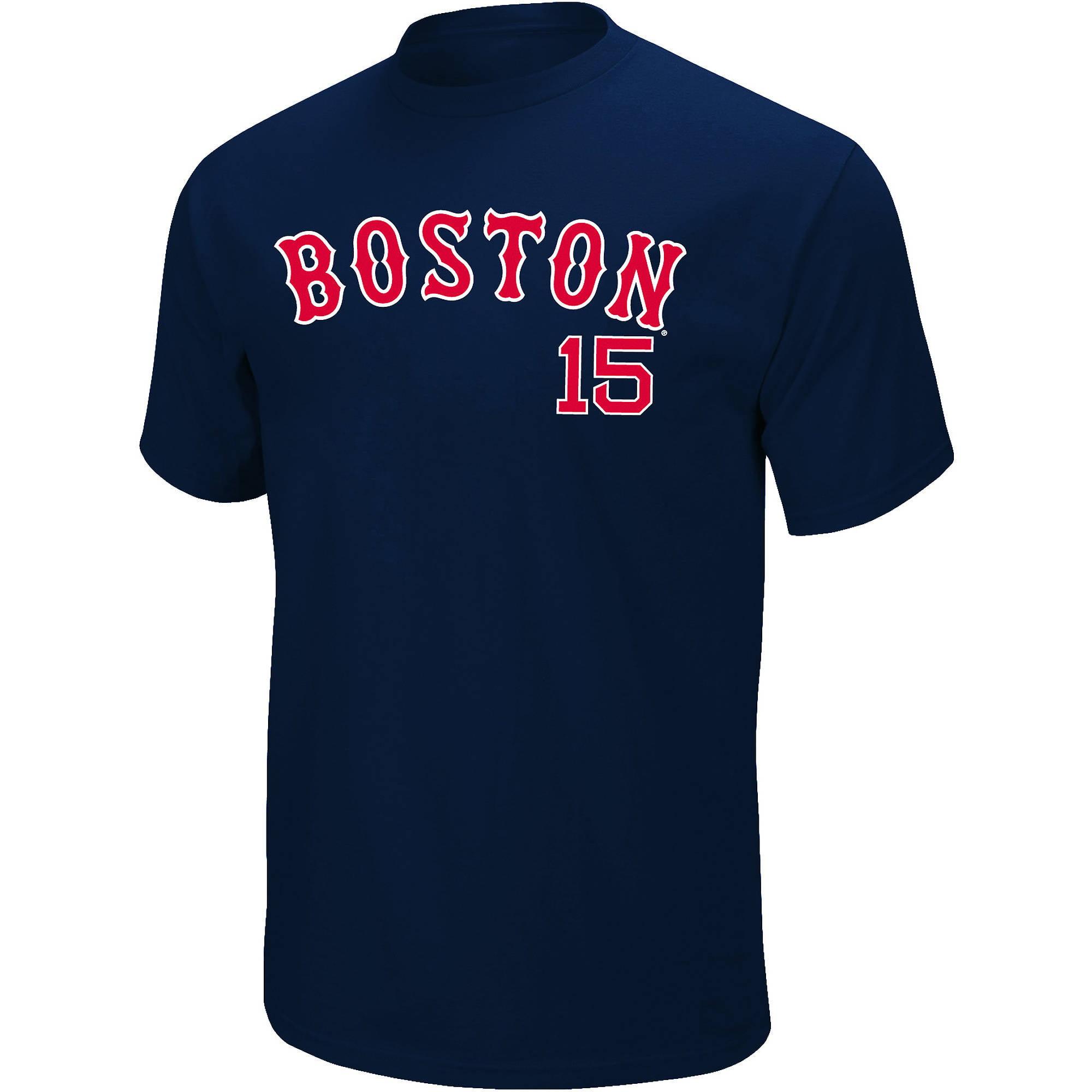 MLB Men's Boston Red Sox #15 Dustin Pedroia Tee