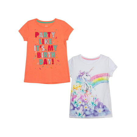 Graphic T-Shirts, 2-Pack (Little Girls & Big Girls)](Beautiful Girl Clothing)