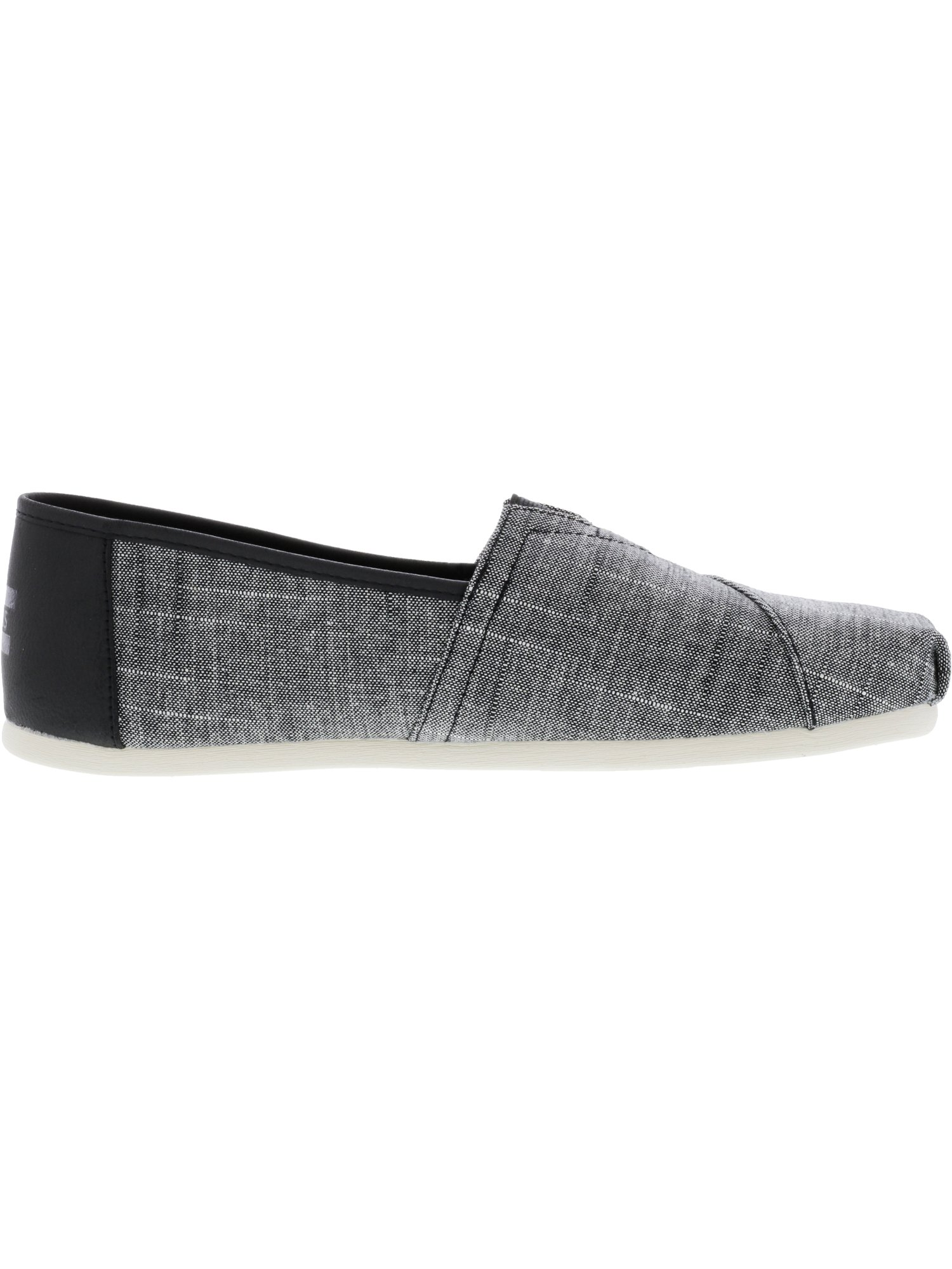TOMS Men's Classic Textured Chambray Black Trim Ankle-High Fabric Slip-on Shoes - 10.5M zcK1MqxC