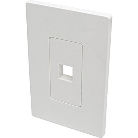 Tripp Lite Wall Plate (Tripp Lite 1-Port Single-Gang Universal Keystone Wallplate, White)
