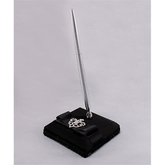 Weddingstar 5036-10 Beverly Clark The Crowned Jewel Collection Pen with Base - Black