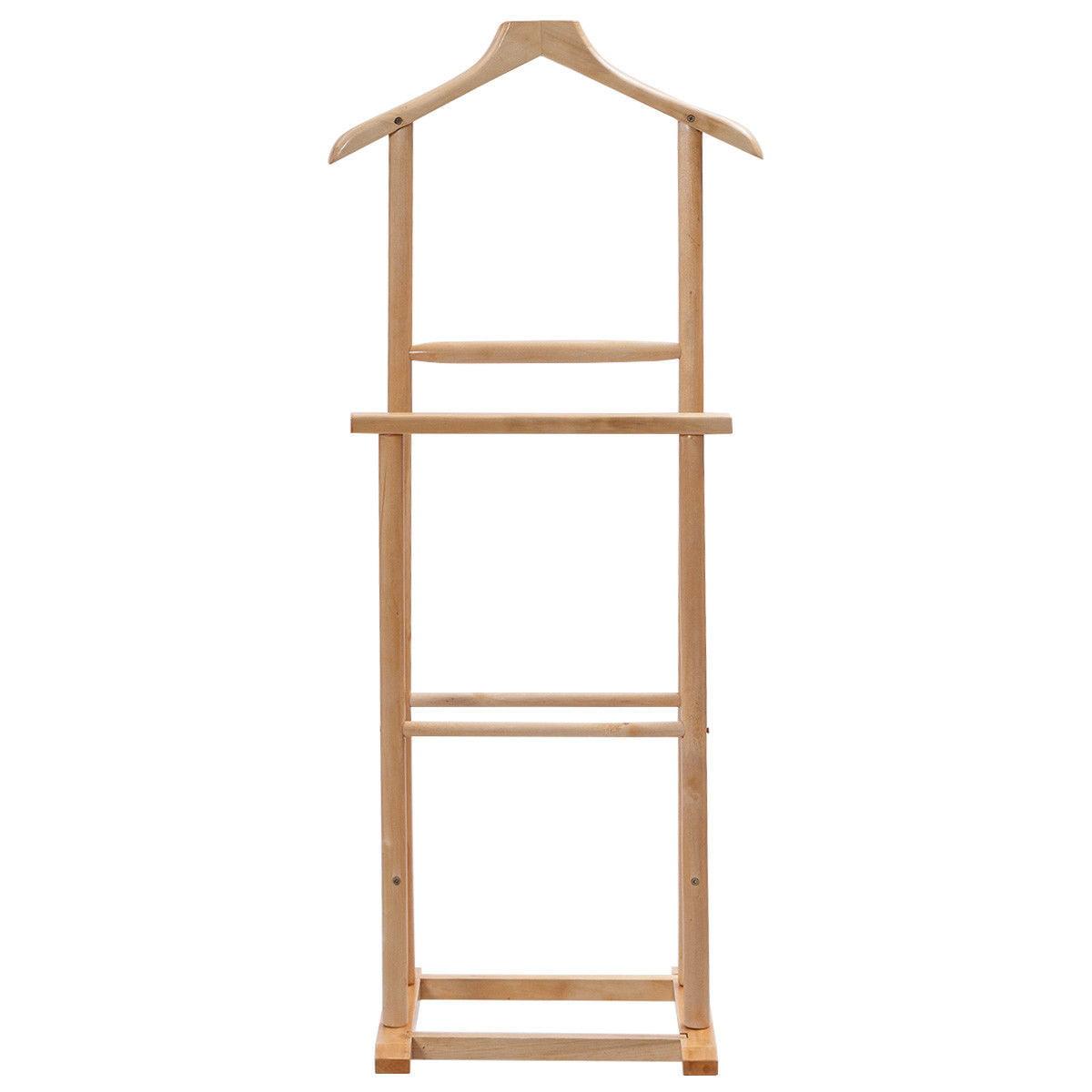 Gymax Men's Valet Stand Coat Rack Executive Clothes Suit Hanger Stand - image 1 de 8