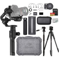 DJI Ronin-S Handheld 3-Axis Gimbal Stabilizer with All-in-one Control for DSLR and Mirrorless Cameras Travelers Bundle - CP.ZM.00000103.02
