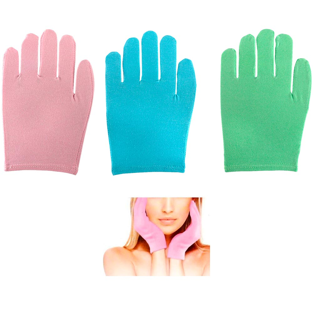 3 Pair Spa Moisture Lock Gloves Skin Care Soft Hands Beauty Therapy Treatment !