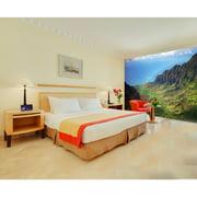 "Startonight Mural Wall Art Mountain and Rainbow Illuminated Nature Landscapes Wallpaper Photo 5 Stars Gift Large 10 x 28,82 '' x 50,4 '' Total 8'4""x 12'"