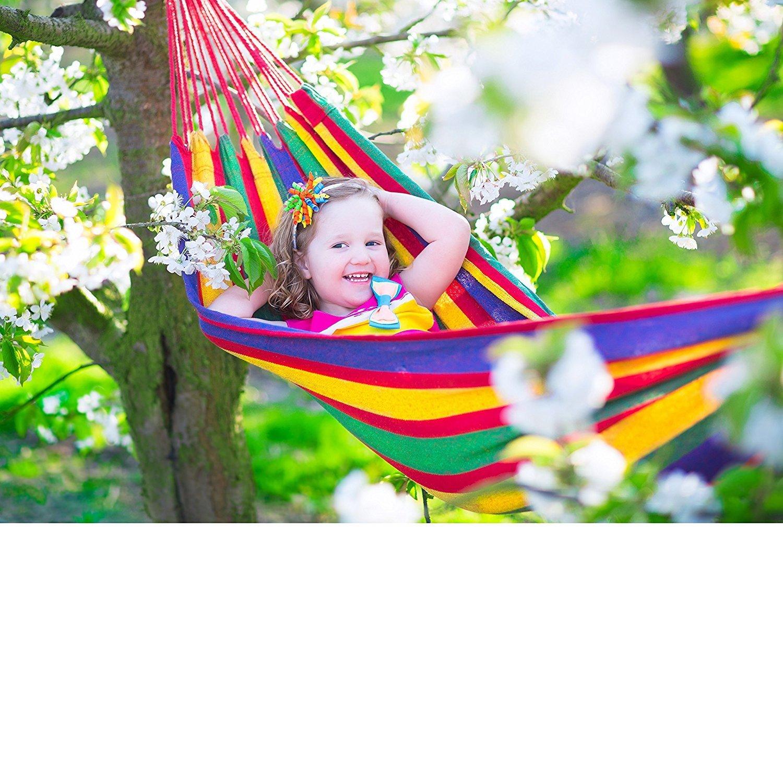 Wealers Outdoor Leisure Cotton Kids Hammocks Ultralight Camping Single-person Hammock