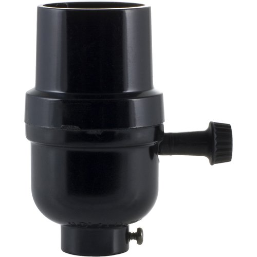 Superb 3 Way Lamp Socket, Black