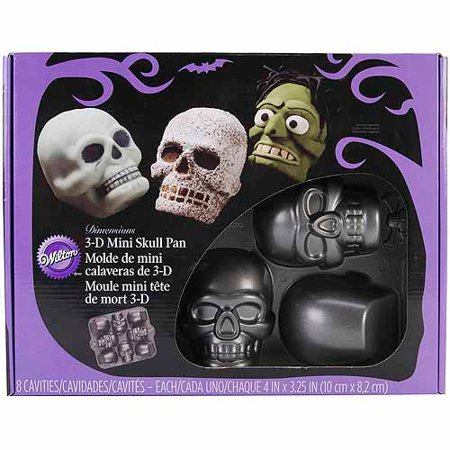 Wilton Dimensions 3d Mini Skulls Pan Halloween 3 D Skull 8