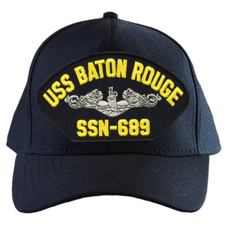 Baton Grip Cap (USS Baton Rouge SSN-689 ( Silver Dolphins ) Submarine Enlisted Cap )