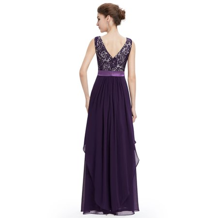 a0634ebd13c Ever-Pretty - Ever-Pretty Women s Simple Long Maxi Mother of the Bride  Wedding Guest Evening Party Dresses for Women 08217 Purple US 10 -  Walmart.com