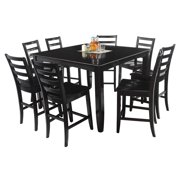 Ryley Dining Set Counter Height-Finish:Cappuccino,Quantity:9 Piece