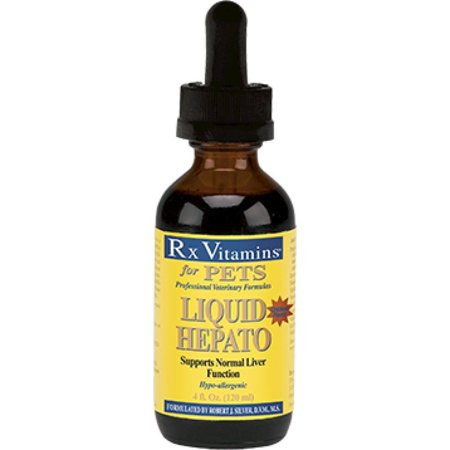 Rx Vitamins for Pets Liquid Hepato for Pets Chicken 4 oz Liver Support 8815 ME Rx Vitamins for Pets Liquid Hepato for Pets Chicken 4 oz Liver Support 8815 ME