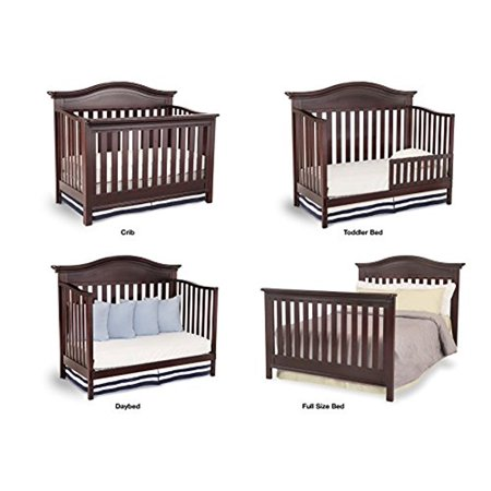 Simmons Kids Augusta 6 Piece Moles Brown Nursery Furniture Set Convertible Crib Daybed